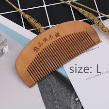 natural peach wood comb close teeth anti static head massage wooden tools accessories hair care