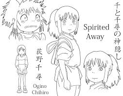 spirited away coloring pages. Contemporary Coloring Spirited Away  Chihiro By Dacara On Away Coloring Pages R