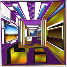 Interior Design Drawing   One Point Perspective  Interior Design  Arohanai  By Savana Smith