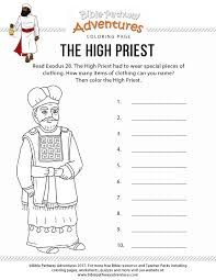 Gideon for kids bird coloring pages alphabet coloring pages coloring books printable coloring coloring sheets. The High Priest Coloring Page Bible Pathway Adventures