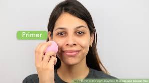 image led do light daytime makeup and cal hair step 1