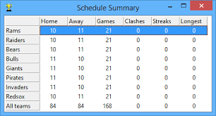Home Or Away The Sports League Scheduler For Windows