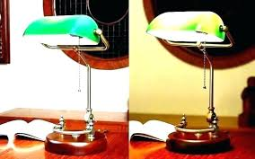 decoration brass desk lamp green glass shade banker replacements bankers shades replacement style with full