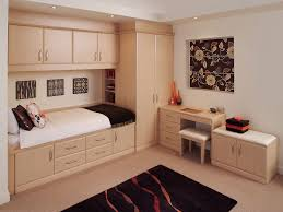 bedroom cabinets. Perfect Bedroom Small Bedroom Furniture With Bed And Pillows On Cabinets  Many Storages Plus A Desk Table Bench Decorated Contemporary  With N