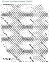 Bead Crochet Rope Graph Paper Sova Enterprises
