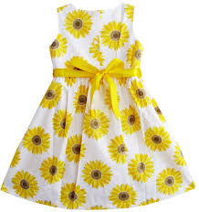 Sunflower Size Chart Details About Sunny Fashion Girls Dress Yellow Sunflower School Sundress Party Size 2 10