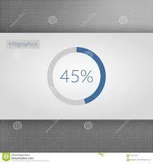 Pie Chart 45 45 Percent Pie Chart Symbol Percentage Vector Infographics