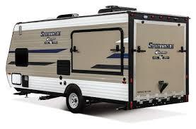 2019 kz rv sportsmen clic 180tht travel trailer toy hauler toy hauler exterior rear 3