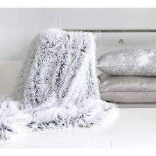 light gray faux fur rug