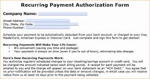 ach authorization agreement template luxury new credit card authorization form template