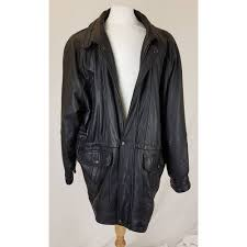 content new york black leather jacket size xl