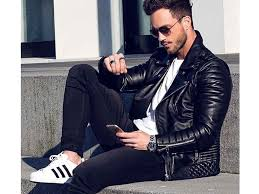 the timelessly masculine leather jacket comes in a variety of neutral colours from camel to oxblood and fonzie esque black but you always want it trim
