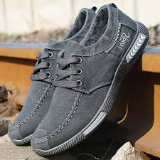 Men sneakers <b>2018 new</b> denim lace-up <b>canvas</b> shoes men footwear ...