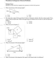 Accounting. Pythagorean Theorem Word Problems Worksheet: Pythagorean ...
