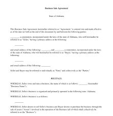 Sale Of Business Agreement Business Sale Agreement FREE Template Word and PDF 2