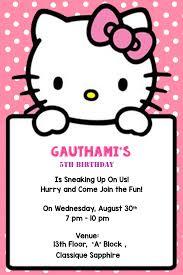 Hello Kitty Invitation Personalized Hello Kitty Birthday Invitation Cards 16 Pcs