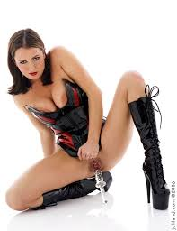 The Girl Devine Lane In Corset And High Boots Packing Pussy With Sex Stuff