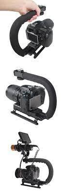 Tay cầm khung đỡ chống rung U-Shaped Hand Grip cho máy quay phim, máy ảnh  chuyên nghiệp - photoZone