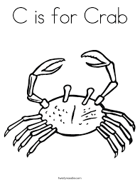 Small Picture C is for Crab Coloring Page Twisty Noodle