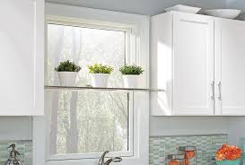 kitchen window display shelf