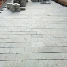 grey natural paving stone for pavement