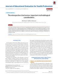 Pdf The Retrospective Chart Review Important