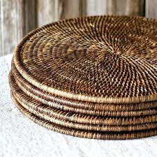 round table mat for round table rattan round set of 2 fine woven cane dark brown round table mat