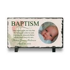 personalized baptism photo slate plaque