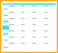 Template For Diet Plan Briero Me