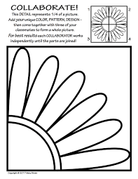Radial Symmetry 2 Collaborative Activity Coloring