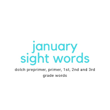 3rd Grade Sight Words Dolch January Winter Theme Sight Words Dolch Preprimer Through 3rd Grade