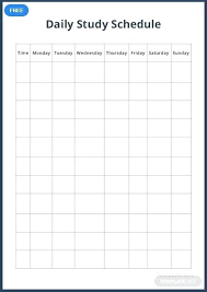 Calendar Blocking Template Free Time Schedule Template