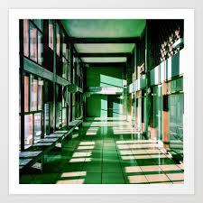 Couloir Cité Radieuse Le Corbusier Marseille Art Print