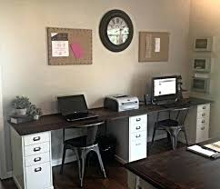 office for home. Home Office Desk For Two 2 Person Top Accessories R