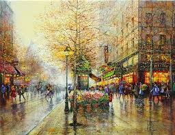 as a child guy impressionist painter showed an enthusiastic aptitude for painting which led him to the highly acclaimed art decoratifs school in paris