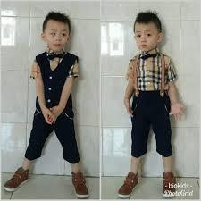 Jual Baju Pesta Jas Tuxedo Rompi Kemeja Burberi Anak Laki Laki Suspender -  Kota Denpasar - Sonia Berry style | Tokopedia
