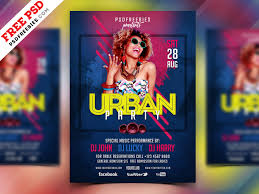 Flyer Design Free Free Psd Urban Party Flyer Design Psd By Psd Freebies Dribbble