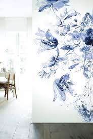 Kek Amsterdam Wonderwalls Fotobehang Royal Blue Flowers Iii