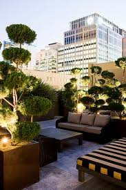 rooftop lighting. furniture and pots with lighting the best rooftop design ideas for your home see i