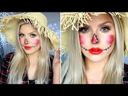 cute scarecrow makeup simple easy tutorial