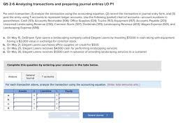 Solved Os 2 6 Analyzing Transactions And Preparing Journa