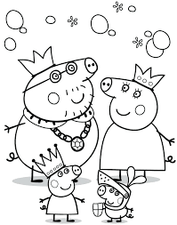 Peppa Pig Coloring Pig Coloring Pages For Kids Pig Coloring Pages