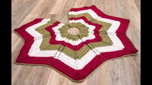 Christmas Tree Skirt Crochet Pattern Cool Classic Cable Star Tree Skirt Crochet Kit Crochet Christmas Tree