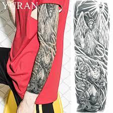 прохладный черный статуя свободы временные татуировки Stciekrs для мужчин полные