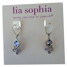 Lia Sophia Silver Riley Dangle with Blue Stones Earrings - Tradesy