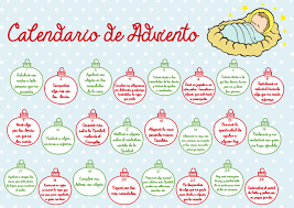 Calendario De Abviento Calendario De Adviento Para Niños Merry Christmas Pinterest