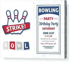 Bowling Birthday Party Invitations Culture Shock