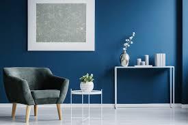 interior painting dark blue living room