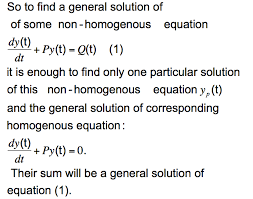 summary how to find the solution of first order linear geneous diffeial equations with constant coefficients