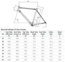 Bianchi Oltre Size Chart Bianchi Infinito Cv Disc Frameset 2019